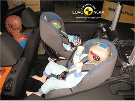 VW Golf Cabriolet – Child Rear Seat crash test
