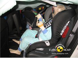 OPEL Ampera – Child Rear Seat crash test
