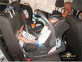 Opel Vauxhall Zafira – Child Rear Seat crash test
