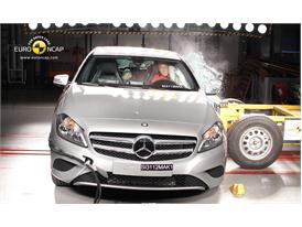 Mercedes Benz A-Class Side crash test 2012