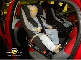 FIAT 500L Child Rear Seat crash test 2012
