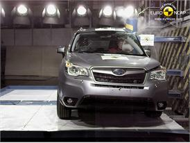 Subaru Forester  Pole crash test 2012