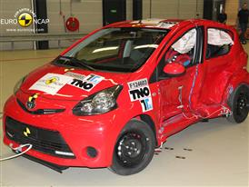 Toyota Aygo - Side crash 2012 - after crash