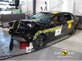 Skoda Octavia - Frontal crash test 2013 - after crash