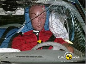Renault ZOE - Pole crash test 2013 - after crash