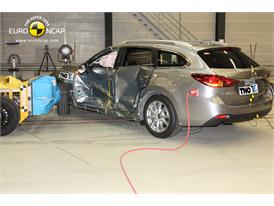 Mazda 6 -Side crash test 2013 - after crash