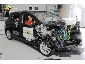 Mitsubishi Space Star/Mirage - Frontal crash test 2013 - after crash