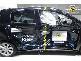 Mitsubishi Space Star/Mirage -Side crash test 2013 - after crash