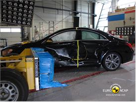 Mercedes-Benz CLA Class-Side crash test 2013 - after crash