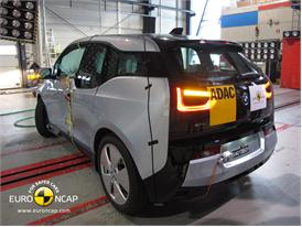 BMW i3 -Side crash test 2013 - after crash