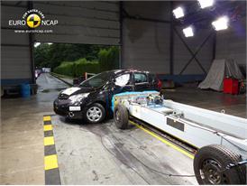 Nissan Note -Side crash test 2013 - after crash