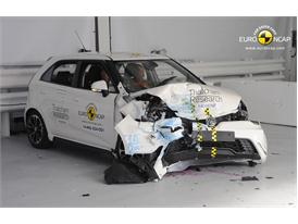 MG3 - Frontal crash test 2014 - after crash
