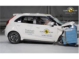 MG3  - Frontal crash test 2014