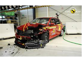 Skoda Fabia - Frontal crash test 2014 - after crash
