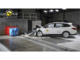 Subaru Outback - Frontal crash test 2014 - after crash