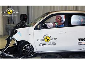 smart forfour - Frontal crash test 2014 - after crash