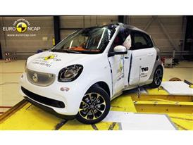 smart forfour  - Pole crash test 2014 - after crash