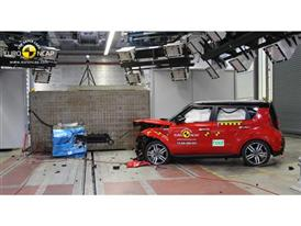 Kia Soul - Frontal crash test 2014 - after crash