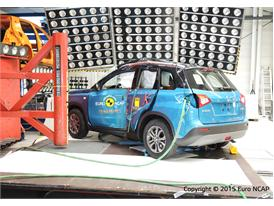 Suzuki Vitara - Pole crash test 2015 - after crash