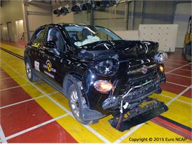 FIAT 500X - Frontal Full Width test 2015 - after crash