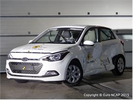 Hyundai i20  - Side crash test 2015