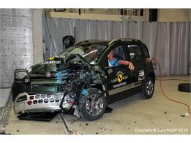 FIAT Panda Cross - Frontal Offset Impact test 2015 - after crash