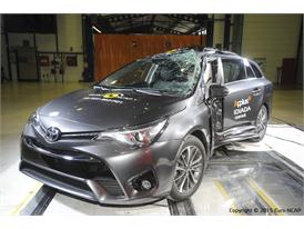 Toyota Avensis  - Pole crash test 2015 - after crash
