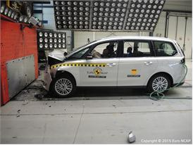Ford Galaxy - Frontal Full Width test 2015 - after crash