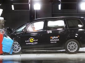Ford Galaxy - Frontal Offset Impact test 2015 - after crash