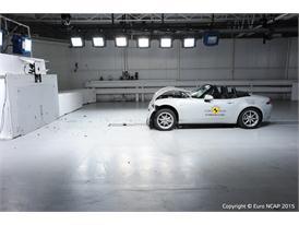 Mazda MX-5 - Frontal Full Width test 2015 - after crash