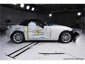Mazda MX-5  - Side crash test 2015 - after crash