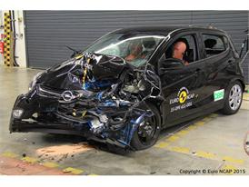 Opel/Vauxhall Karl - Frontal Offset Impact test 2015 - after crash
