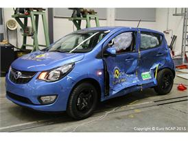 Opel/Vauxhall Karl  - Side crash test 2015 - after crash