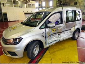 VW Caddy  - Side crash test 2015 - after crash