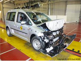 VW Caddy - Frontal Full Width test 2015 - after crash
