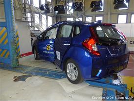Honda Jazz - Pole crash test 2015 - after crash