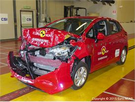 Honda Jazz - Frontal Full Width test 2015 - after crash