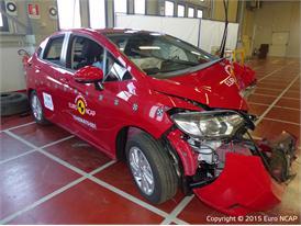 Honda Jazz - Frontal Offset Impact test 2015 - after crash
