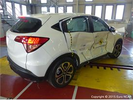 Honda HR-V - Side crash test 2015 - after crash
