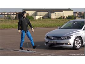 Adult dummy for AEB pedestrian tests