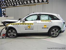 Mercedes-Benz GLC - Frontal Offset Impact test 2015 - after crash