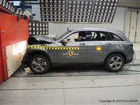 Mercedes-Benz GLC - Frontal Full Width test 2015 - after crash