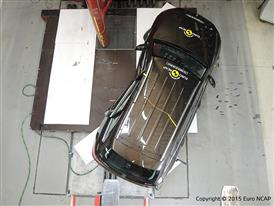 Mercedes-Benz GLC  - Pole crash test 2015 - after crash