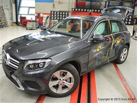 Mercedes-Benz GLC  - Side crash test 2015 - after crash