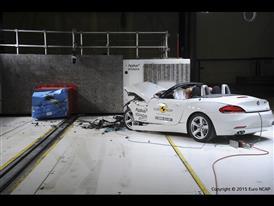 BMW Z4- Frontal Offset Impact test 2015 - after crash