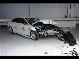 Jaguar XE - Frontal Offset Impact test 2015 - after crash