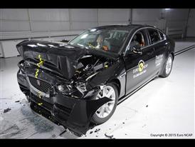 Jaguar XE - Frontal Full Width test 2015 - after crash
