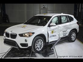BMW X1 - Side crash test 2015 - after crash