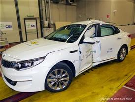 Kia Optima - Pole crash test 2015 - after crash