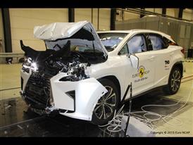 Lexus RX- Frontal Full Width test 2015 - after crash